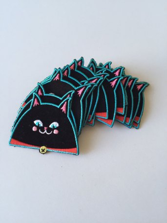 black cat patch 3 by Kodiak Milly on etsy