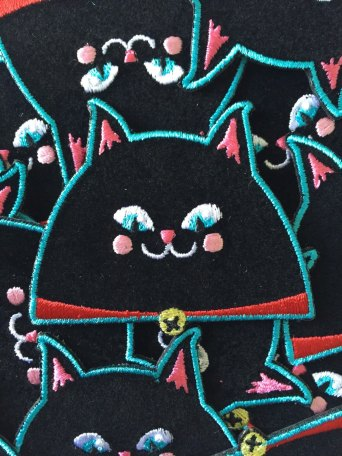 black cat patch by Kodiak Milly on etsy