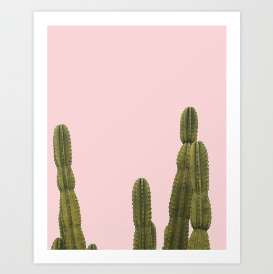 Blushing Cactus by The Pixel Gypsy on Society6