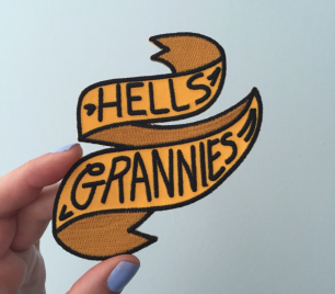 Hells Grannies embroidered iron on funny patch by Kodiak Milly