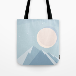 moonlight on blue mountains by Kodiak milly
