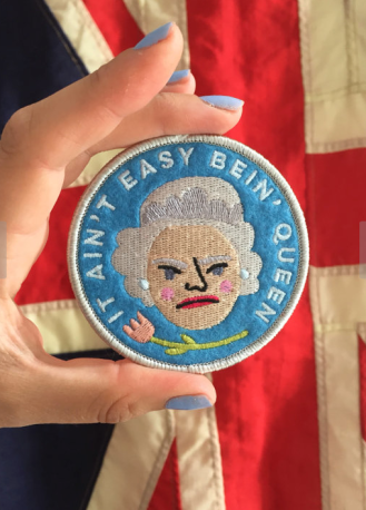 Queen of England patch by Kodiak Milly on etsy