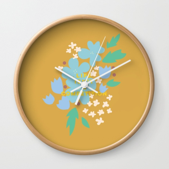 Life isn't a compeition clock by Kristen Lourie on Society6