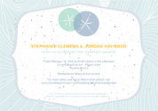 Sand Dollar Invitation Design by Kristen Lourie co Botanical Paperworks
