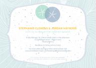 Sand Dollar Invitation Design by Kristen Lourie co Botanical Paperworks