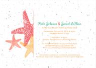 Starfish Wedding Invitation designed by Kristen Lourie co Botanical Paperworks