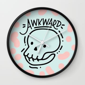 eternally-awkward-clock-by-kodiak-milly-on-society6