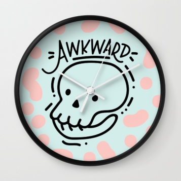 eternally-awkward-clock-by-kodiak-milly-on-society6