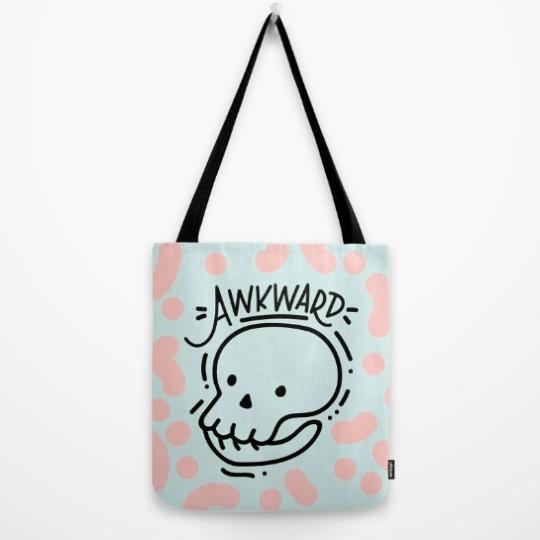 eternally-awkward-tote-bag-by-kodiak-milly-on-society6