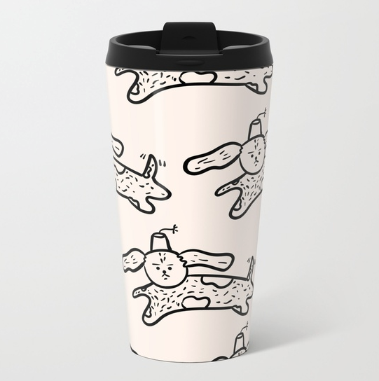 emotionless-dog-jumping-wearing-a-fez-by-kodiak-milly-travel-mug