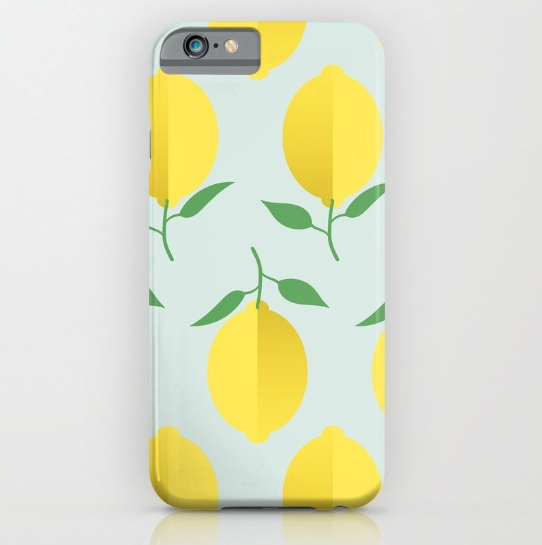 lemon-pattern-by-kodiak-milly-society6-iphone-case
