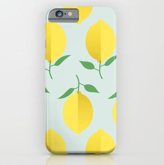 lemon-pattern-by-kodiak-milly-society6-iphone-case