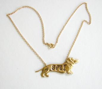 funny spaz dog necklace 2