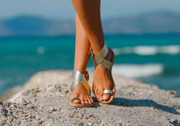 Handmade leather sandals from Greece silver 2