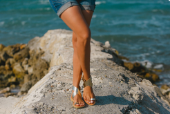 Handmade leather sandals from Greece silver