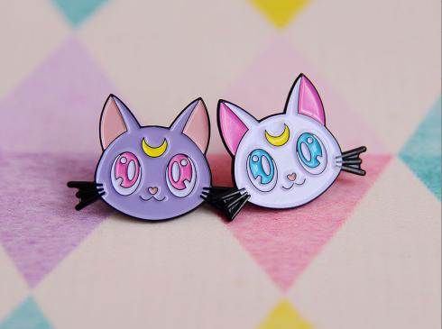 Luna and Artemis enamel pins Sailor Moon.png