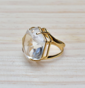 The Royals quartz cocktail ring