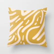 Mustard_Yellow_and_Peach_pattern-Tribal-Inspired_by_Kodiak_Milly_Society6_pillow