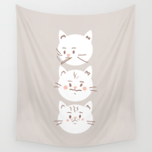 Cat Brothers What Would Dolly Do wall tapestry on Society6 by Kodiak Milly