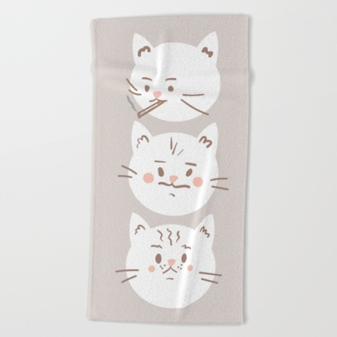 cute-cat-brothers-illustration-white-cats-on-a-beige-background-beach-towels