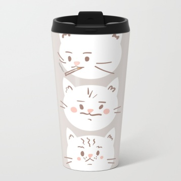 cute-cat-brothers-illustration-white-cats-on-a-beige-background-metal-travel-mugs