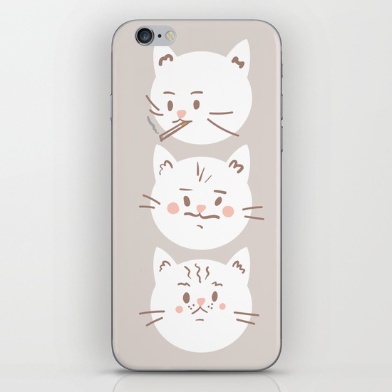 cute-cat-brothers-illustration-white-cats-on-a-beige-background-phone-skins
