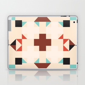 geometric-quilt-like-pattern-ivory-rust-sable-teal-laptop-skins