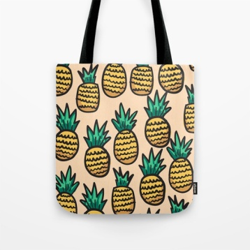 pineapple-illustration-on-peach-background-bags