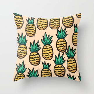 pineapple-illustration-on-peach-background-pillows