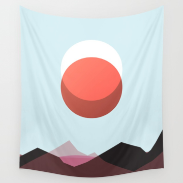 Red Moon Lunar Eclipse What Would Dolly Do wall tapestry on Society6 by Kodiak Milly