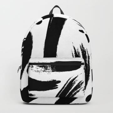 black-white-paint-strokes-pattern-backpacks