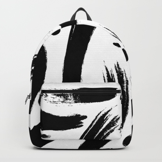 black-white-paint-strokes-pattern-backpacks
