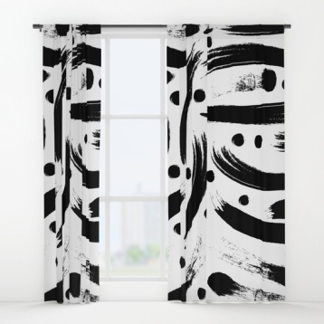 black-white-paint-strokes-pattern-curtains