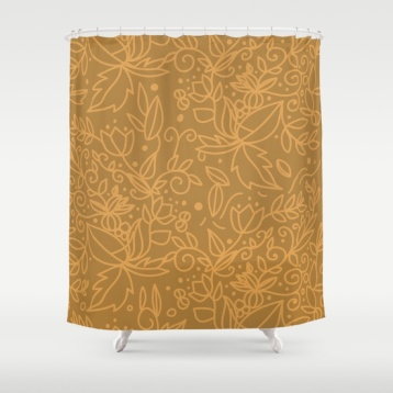 earthy-natural-organic-pattern-cinnamon-gold-colors-shower-curtains
