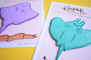 Manta Ray iron on patches by Kodiak Milly