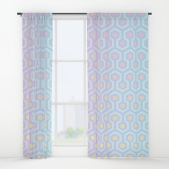 The-Shining-Overlook-Hotel-carpet-pattern-magical-unicorn-oil-spill-pastel-coloured-geometric-pattern-curtains