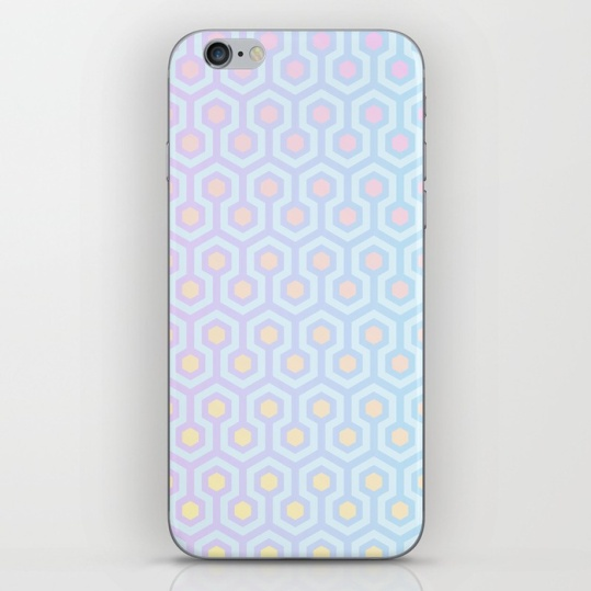 The-Shining-Overlook-Hotel-carpet-pattern-magical-unicorn-oil-spill-pastel-coloured-geometric-pattern-phone-skins