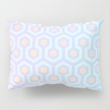 The-Shining-Overlook-Hotel-carpet-pattern-magical-unicorn-oil-spill-pastel-coloured-geometric-pattern-shams