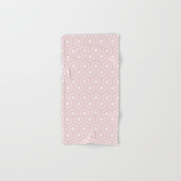 The-Shining-Overlook-Hotel-carpet-pattern-subtle-pink-pastel-geometric-retro-pattern-bath-towels