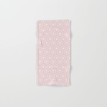 The-Shining-Overlook-Hotel-carpet-pattern-subtle-pink-pastel-geometric-retro-pattern-bath-towels