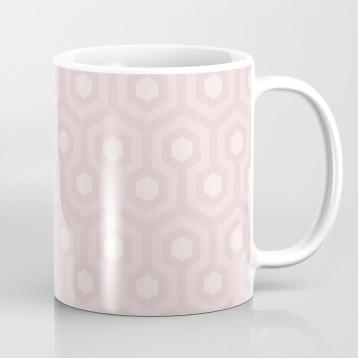 The-Shining-Overlook-Hotel-carpet-pattern-subtle-pink-pastel-geometric-retro-pattern-mugs