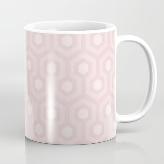 The-Shining-Overlook-Hotel-carpet-pattern-subtle-pink-pastel-geometric-retro-pattern-mugs