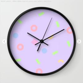 Neon-lunch-1990s-retro-pattern-shapes-pastels-kodiak-milly-clock