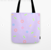 Neon-lunch-1990s-retro-pattern-shapes-pastels-kodiak-milly-tote-bag
