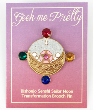 Geek Me Pretty Sailor Scout Moon Manga transformation hard enamel pin etsy.png