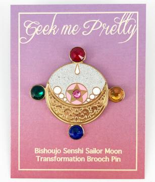 Geek Me Pretty Sailor Scout Moon Manga transformation hard enamel pin etsy.png