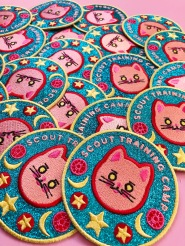 Sailor-Moon-sparkly-training-iron-on-patch-cat-by-kodiak-milly