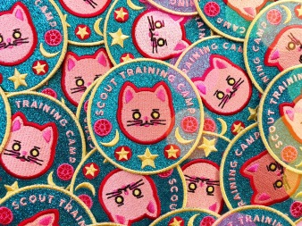Sailor-Moon-sparkly-training-iron-on-patch-cat-by-kodiak-milly5