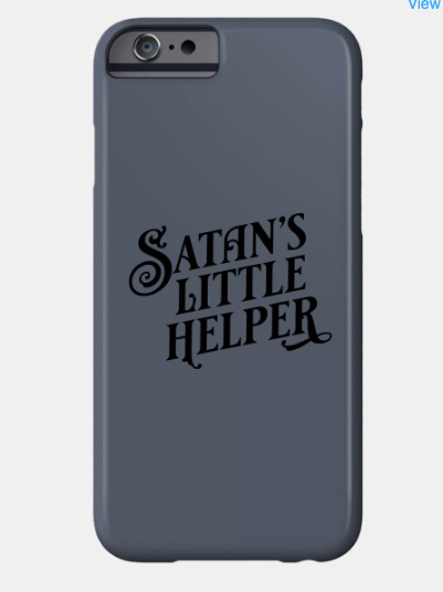 Satan's Little Helper cellphone case