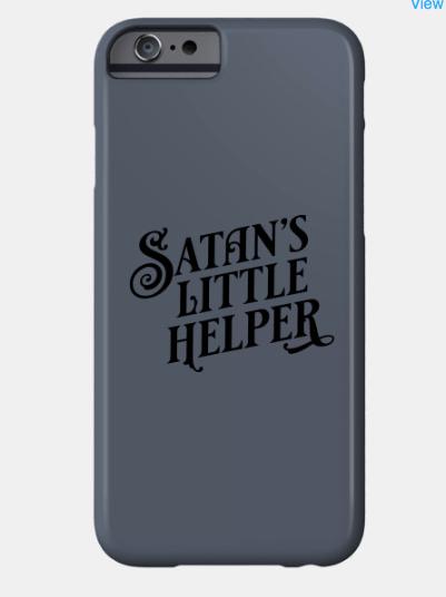 Satan's Little Helper cellphone case